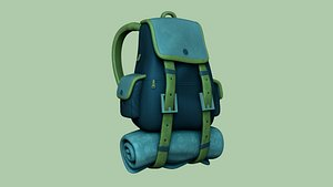 3D backpack - blue character