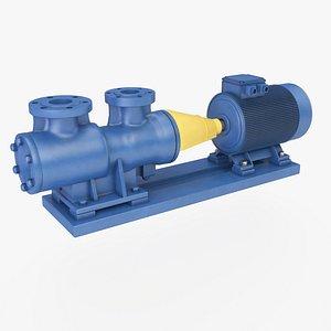pump three-screw 3D