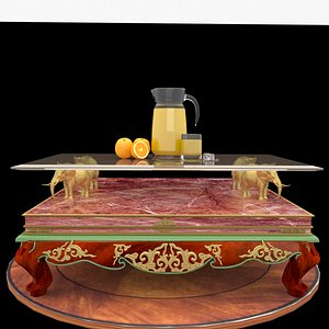 chinese orange table 3D model