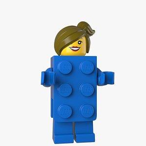 Lego Brick Suit Girl 3d Model 3D model