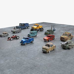 12 Cars - Post Apocalyptic and More 3D