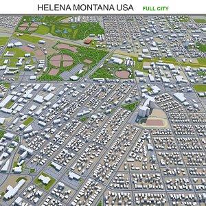 3D Helena Montana USA
