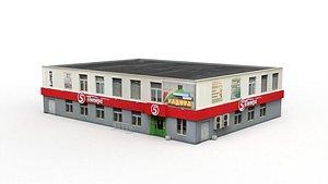3D Food Shop model