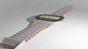 3D Casio Retro Watch