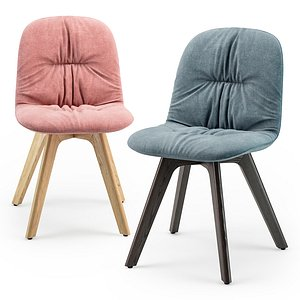 Bontempi Chantal wood chair 3D