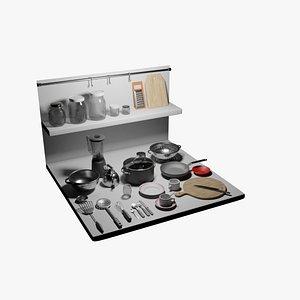 3D kitchen tool set pack