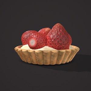 strawberry tart 3D model