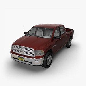 3D model 2009 Dodge Ram CrewCab BH