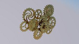 3D model Gear mechanism model