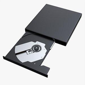 3D External DVD USB drive model