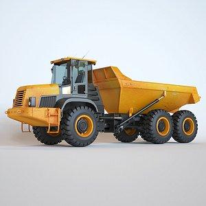 3D articulated dump truck model