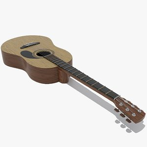 guitar acoustic 3D