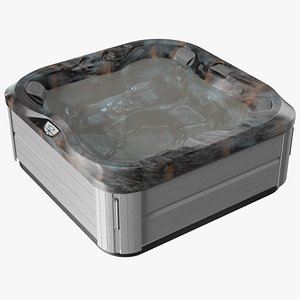 3D Jacuzzi J 335 Hot Tub Monaco with Water