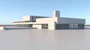3D High School Building model
