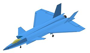 China Chengdu J-20 Solid Assembly 3D model