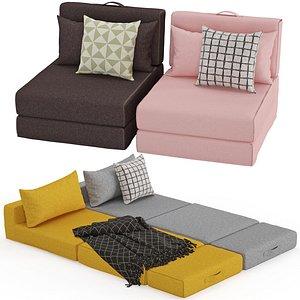 3D Arty pouf bed model