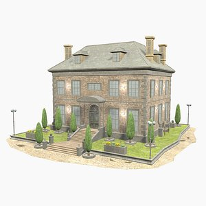 3D model - manor house