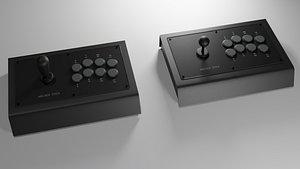 arcade stick 3D model