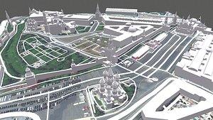 3D model Cityscape Moscow Kremlin