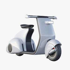 future vespa scooter 3D model