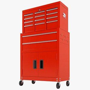 3D Tool Box Trolley Storage Garage 01