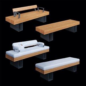 bench adanat london 3D model