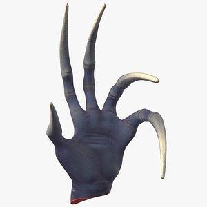 3D scary creature wrist science fiction model