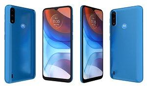 3D Motorola Moto E7i Power Tahiti Blue