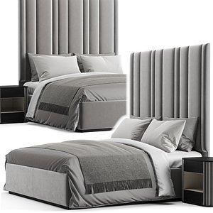 3D bed bedside tables