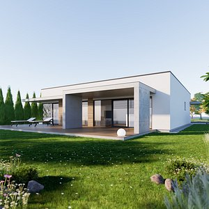 Bungalow 8 - Created with fully parametric Revit Families 3D