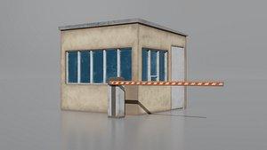 3D model Barrier-building-1