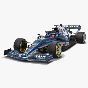3D alphatauri f1 2021 at02 model