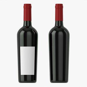 3D model Wine bottle mockup 15