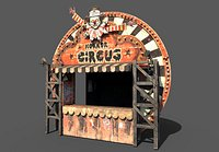 Old Horror Circus Stand