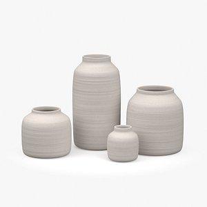 grey speckle vase 3D model
