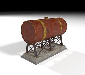 3D rusty cistern