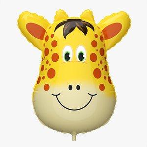 Decoration foil balloon 04 Giraffe 3D model
