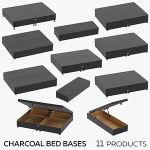 Charcoal Bed Bases model