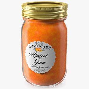 3D jam jar apricot