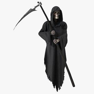 3D Grim Reaper Holding a Scythe model