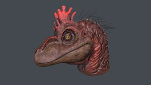 Velociraptor Head 3D model