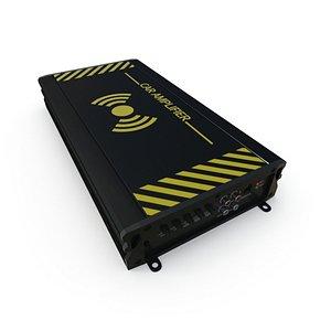 3D Car Amplifier PBR model