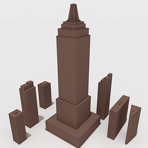 skyscrapers sky model