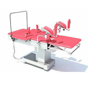 Gynecological Operating Table 3D model
