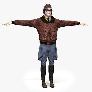 3D flyboy barnstorm pilot rig model