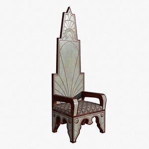 chair throne furniture 3D