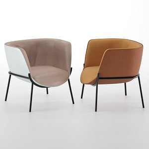 bombom armchair chair 3D model