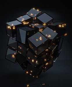 Scifi Cube- Abstract Cubes in Cube 3D