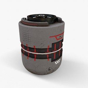3D sci-fi bomb v3