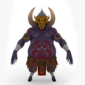 Demon Rigged and Animated 3D model